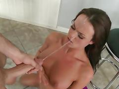 Hard pussy demolishion for cock sucking Rahyndee James porn tube video