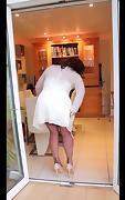 White pleated dress 2 porn tube video