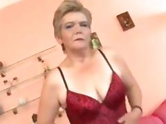 Exited Granny with a cock