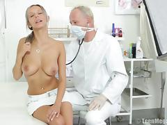 Doctor throbbing natural tits babe pussy hardcore in reality seen porn tube video