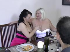 Older mature grannies with big curvy tits fucked both holes hardcore porn tube video
