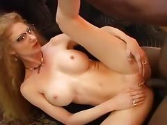White Secretary Gets Black Anal Fuck tube porn video