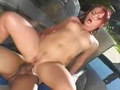 Horny pornstar Katja Kassin in incredible outdoor, redhead sex clip porn tube video
