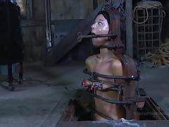 Toy fetish maiden screaming when tortured in BDSM seen porn tube video