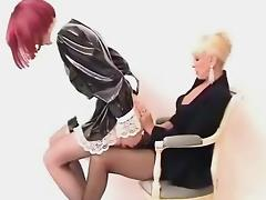Rubber maid in Training porn tube video