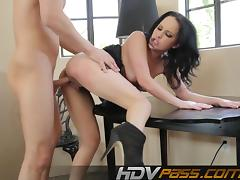 Hard doggystyle with nasty black hair babe tube porn video