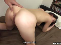 Brunette Asian slut getting her hairy cunt fucked deep porn tube video