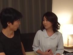 Giving the Japanese MILF the kind of pounding that she really needs