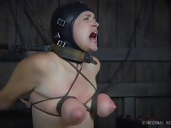Two raunchy and horny bitches get off on kinky BDSM action porn tube video