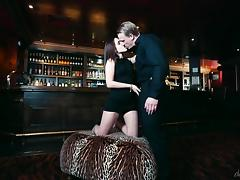 Bartender blows a load on the face of Zoe Doll