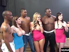 Bunny, Big Tits, Bunny, Group, Hardcore, Interracial
