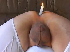 Male butthole candleholder
