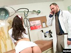 Perfect nurse Kristina Rose really likes the long doggy sessions