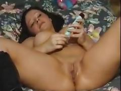 Amber bangs the bedpost