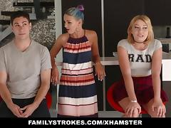 FamilyStrokes - Scavenger Hunt with sis turns sexual porn tube video