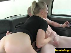 Busty english taxi driver rides backseat cock porn tube video