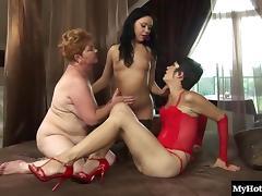 Granny, Granny, Juicy, Lesbian, Lick, Mature