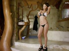 beautiful Mirelle thinks about cocks and plays with her private parts