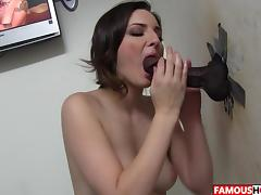 Big Black Cock For Tegan Mohr At The Famous Glory Hole porn tube video