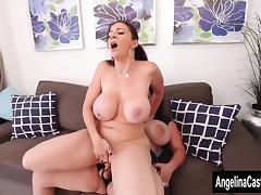Angelina Castro Strap On Fucks Sara Jay! tube porn video