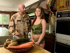 Army, Army, Brunette, Couple, Fetish, Hardcore