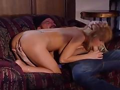 blonde knows how to milk that dick