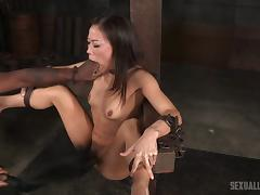 Petite Asian honey Kalina likes being bound and rammed hard