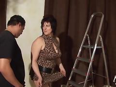 Mature German Granny likes fat cock porn tube video