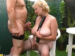 Dutch granny visits the backyard in order to get totally naughty there tube porn video