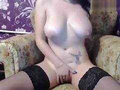 Brunette HomechokXXX masturbates