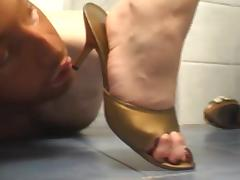 High heel slave tease porn tube video
