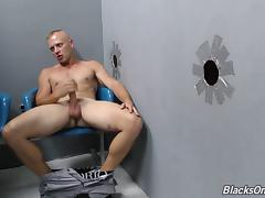 Looks like the white dude wants that black cock inside his anus!