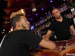 Gay cock sucking and anal bonking adventure at the local bar