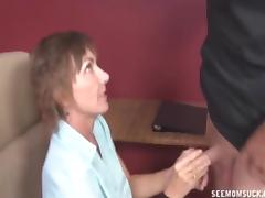 Mom and Boy, Blowjob, Mature, Nude, Old, Penis