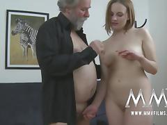 Young, Amateur, Big Tits, Blowjob, Brunette, Cumshot