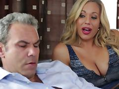 Olivia Austin seduces her mature hunk for a quick fuck porn tube video