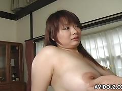 Asian busty bitch gets her hairy muff filled up porn tube video