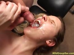Banging, Banging, Bukkake, Cum in Mouth, Cumshot, Facial