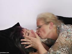 Two raunchy bitches are down for some hot lesbian loving