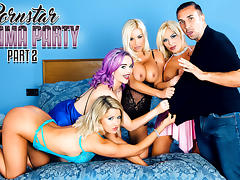 Aaliyah Ca Pelle & Jasmine James & Keiran Lee & Michelle Thorne & Sienna Day in Porn Star Pajama Party Part 2 - DigitalPlayground tube porn video