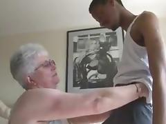 Black, Black, Granny, Interracial, Mature, Old