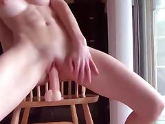 Fit babe rides dildo after the gym tube porn video