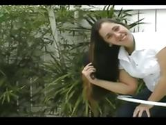 Donnette s Long Pantene Hair Brushing  Ponytails and Braids porn tube video
