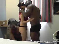 Horny wife with double bbc