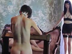 lesbian slave serve three Mistress porn tube video