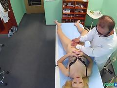 Beatrix in Doctors oral massage gives skinny blonde her first orgasm in years - FakeHospital