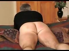 Bed paddling porn tube video