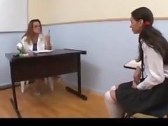 Brazilian Lesbians Classroom kissing