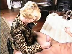 Blonde MILF has a blast while being plowed by a stiff boner porn tube video