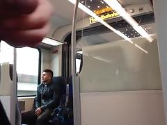 Jerk off infront of a guy in the train part 1